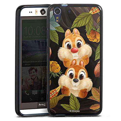 Silikon Hülle kompatibel mit HTC Desire Eye Case schwarz Handyhülle Disney Chip und Chap Offizielles Lizenzprodukt