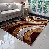 CZW Teppiche Teppich Teppich Seidenteppich Wohnzimmer Couchtisch Teppich Sofa Teppich Einfache Mode Atmosphäre Multi-Muster,F,1,2 m × 1,7 m