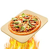 Pizza Stone, 15''x 12'' Pizza Grilling Stone, Pizza Stone for Oven and Grill, Durable and Safe Baking Stone for Grill Personal Pizza, Ideal for Baking Crisp Crust Pizza, Bread, Cookies and More