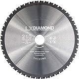 LXDIAMOND Lame de scie en métal dur 210 mm x 30,0 mm - Qualité supérieure - Pour...