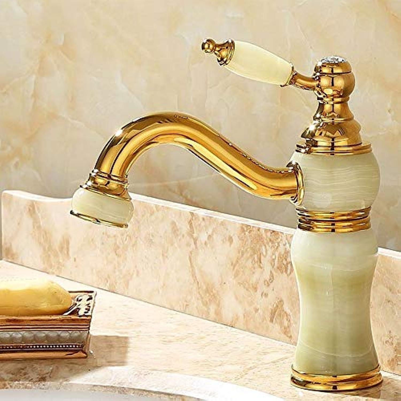 Rmckuva Waschtischarmaturen Becken Wasserhahn Moderne 360 ° Drehbare Düse Einhebel Wasserhahn Messing Mischer Gebogen Mund Jade Wasserhahn Cyan-Hz9