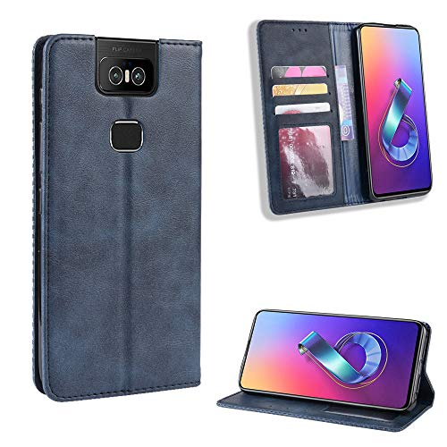 SWMGO® Flip Brieftasche Hülle für Asus Zenfone 6 ZS630KL/Asus Zenfone 6z/Asus Zenfone 6 2019(Muster 4)