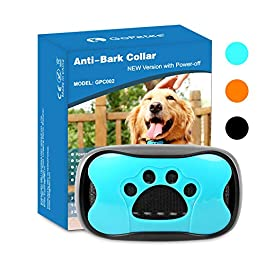 GoPetee Dog Anti Bark Collar Stop Barking Sound and Vibration with Switch No Shock Collar Pet Trainer Collar Come with LED light for Small Medium Large Dogs (with Switch)