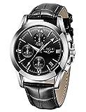 Reloj LIGE para Hombre Reloj de Pulsera de Cuarzo analógico de Cuero Reloj Deportivo Informal Impermeable para Hombre Reloj de Pulsera para Hombre Fecha Vestido de Negocios Negro marrón
