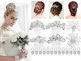 Nupcial Peine, 26 piezas Nupcial Peinetas y Novia Cristal Horquillas, Boda Horquillas de Pelo peines para novias damas de honor