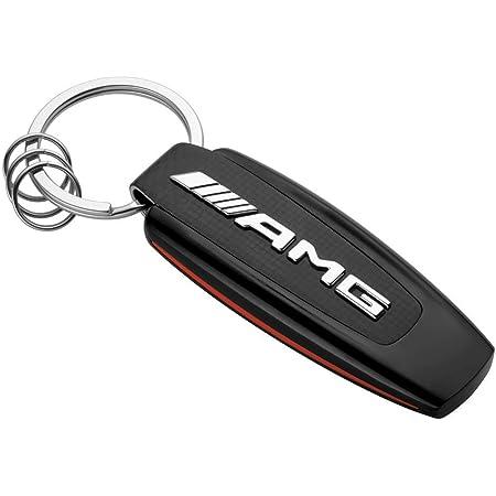 Mercedes Benz Amg Original Typo Schlüsselanhänger Edelstahl Schwarz Rot Carbon Optik Auto