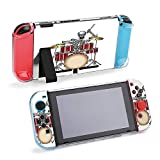 SUPNON Human Skeleton Playing On Drum Protective Case Compatible with Nintendo Switch - Soft Slim Grip Cover Shell for Console and Joy-Con with Screen Protector, Thumb Grips, Anti-Scratch Design14949