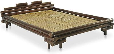 vidaXL - Cama de bambú (140 x 200 cm), Color marrón Oscuro
