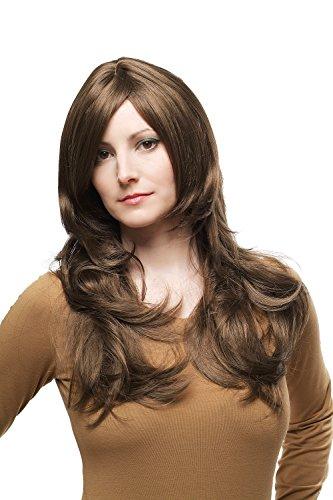 WIG ME UP ® - 3117-10 Damen Perücke mittelbraun Scheitel langes leicht gewelltes Haar ca.55 cm
