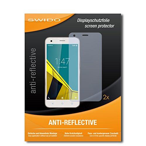 Schutzfolie für Vodafone Smart Ultra 6 [2 Stück] SWIDO Anti-Reflex MATT Entspiegelnd, Hoher Festigkeitgrad, Blasenfreie Montage, Schutz vor Öl, Staub, Fingerabdruck & Kratzer / Folie, Bildschirmschutz, Bildschirmschutzfolie, Panzerglas-Folie