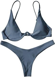 b36a98497568 Rehao Costume da Bagno Donne Push-up Brasiliano Bikini Set, Sexy Bikini Costumi  da