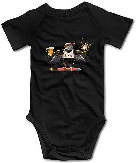 Acener Lustiger American Adler 4th of Juli Baby Junge Kleidung Kurzarm Babysuit Lustige Unisex Weste Neugeborene Strampler Outfit Baumwolle