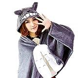 LILYLIFE Totoro Anime Capa de franela con capucha Capa con capucha Poncho con capucha ?M? TB01-1