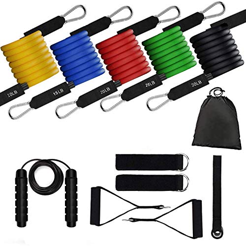 Lersyco Resistance Bands Set Exercise Bands Home Workouts,Physical Therapy- Portable Home Gym Accessories - Perfect Muscle Builder for Arms, Back, Leg, Chest, Belly, Glutes