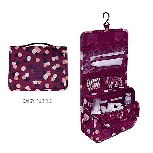 Jecxep Pocket Viaggio Hanging Viaggio da Toeletta del Corredo Cancella Trousse da Toilette Carry Case (Vino Rosso)