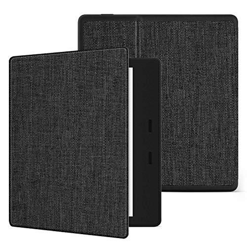 Ayotu Oasis Coque pour Kindle 10e génération (modèle 2019) et 9e génération (modèle 2017), étui en PU nid d'abeille avec Fonction réveil/Veille Automatique,Gris foncé