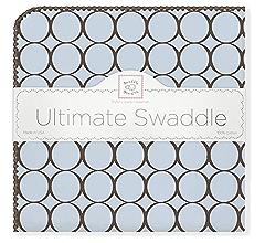 SwaddleDesigns Ultimate Swaddle braun gepunktete Babydecke