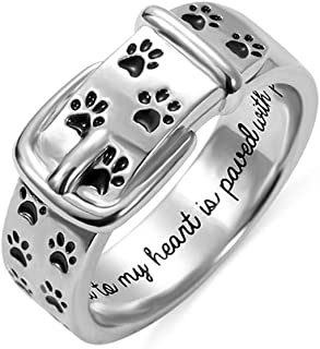 sterling silver dog collar ring