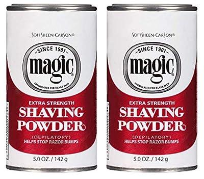 SoftSheen-Carson Magic Extra Strength Shaving Powder. Depilatory, Helps Stops Razor Bumps, 5 oz / 142g (Pack of 2)