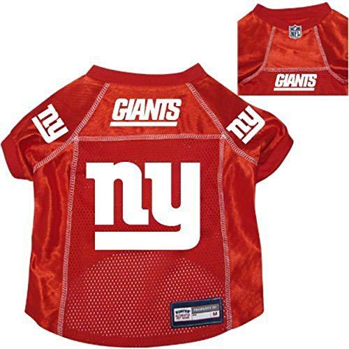New York Giants Pet Dog Football Jersey Alternate Red Medium