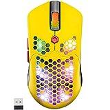 ゲーミングマウス ワイヤレス 無線/有線 充電式800mA軽量マウス光学式 RGB 16色LEDライトマクロ登録 プログラマブルドライバー 12000DPI 7鍵 5段調節可能 ハニカムデザイン Pixart Paw3325 PC PS4 スイッチ対応