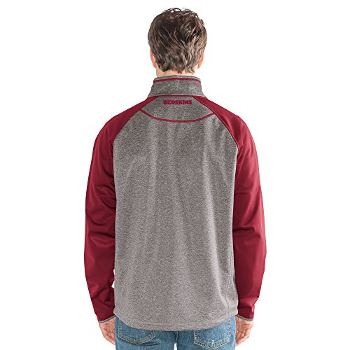 G-III Sports NFL Washington Redskins Mountain Trail Half Zip Pullover, Small, Gray