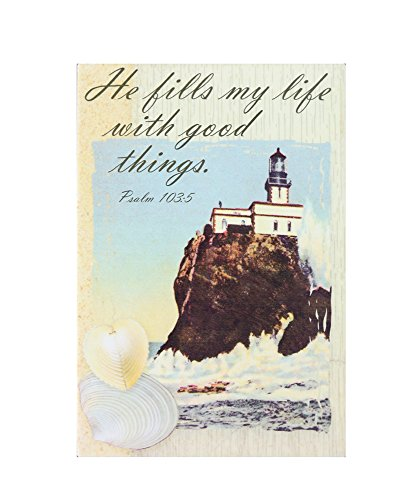 """Ceramic Decoration Tile, Good Things 8""""x12"""", 31284 By ACK"""