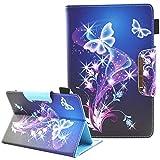Junhamor Etui Housse de Protection Universel pour ARCHOS 101C Oxygen,ARCHOS Core 101 3G V2 10.1,ARCHOS 97C Platinum 9.7' Flip Folio Stand Cover(Magic Butterfly)