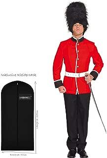 4-teilig Komplett Kostüm britische Palastwache für Herren