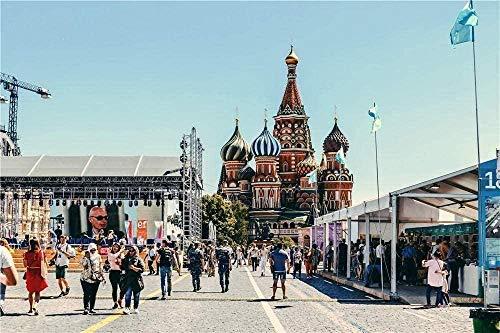 GenericBrands Rompecabezas para Adultos Hombre De Juguete Educativo Rompecabezas De 500 Piezas Caminando Cerca De La Catedral De San Basilio En Moscú