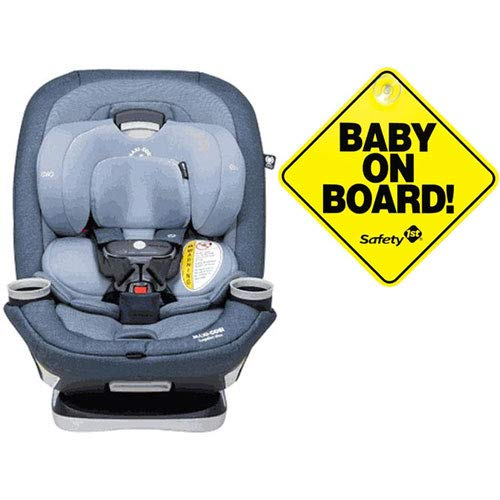 Best Review Of Maxi-Cosi Magellan Max XP Convertible Car Seat – Nomad Blue with Baby on Board Sign