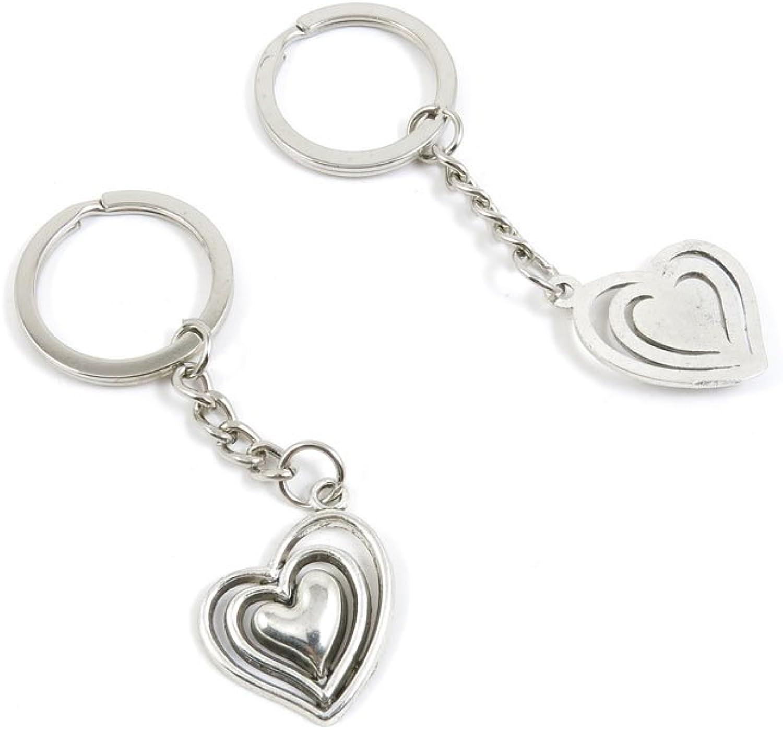 160 Pieces Fashion Jewelry Keyring Keychain Door Car Key Tag Ring Chain Supplier Supply Wholesale Bulk Lots U4YG0 Three Layer Heart