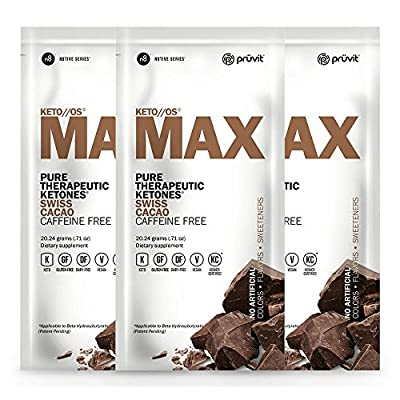 KETO//OS MAX Pure Therapeutic Ketones Drink Mix, Swiss Cacao Flavor - Charged
