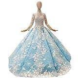 Elegant Dress Demi-Col Haut Dentelle...