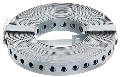GAH-Alberts 334208 Lochband | mit oder ohne Abrollkasette | sendzimirverzinkt | Breite 17 mm | Länge 10 m