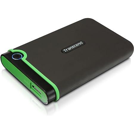 "Transcend StoreJet 25M3 Hard Disk portatile, 2.5"", USB3.1/3.0, 1 TB, Grigio/Verde"