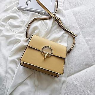 Adebie - Luxury Handbag 2019 Fashion New Ladies Square Bag High Quality Wide Shoulder Women Designer Handbag Lock Shoulder Messenger Bags 20 X 9 X 17 cm Yellow [20 X 9 X 17 cm]