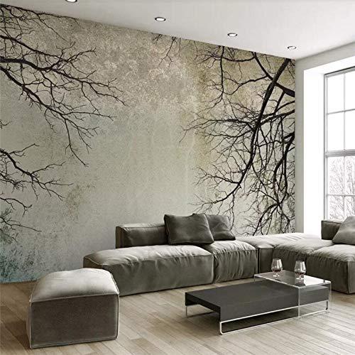 TapTheDecor 3D-wandscherm, groot, minimalistisch, modern, donker bos, mist, Scandinavische stof, zijde, 5D, voor het afdrukken van foto's, muurkunst, decoratie voor woonkamer, slaapkamer, kantoor, plafond 250cm(W) x 160cm(H) (8.20 x 5.25) ft