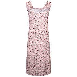 i-Smalls Ladies Women's Nightwear Button Heart Print Sleeveless Long Nightie. Available In UK Plus Sizes (M) to (3XL). Soft Cotton Blend, our Women's Nightdresses Keep you Cool and Dry all Night Long. Relaxed Cut Ideal for Sleeping and Morning Jobs. ...