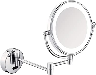 Mirror Makeup Mirror Dressing Table Mirror Led Fold Double Sided Bathroom Magnifier Telescopic HD ZHANGAIZHEN (