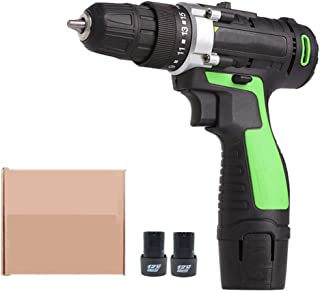 Batteriborr, kraftfull uppladdningsbar Electric Drill Set 12 V, tvåväxlad användning: Justering, batteri med stor kapacitet
