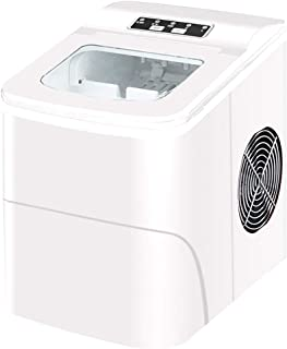 SXXYTCWL Machine à glaçonner 26 LB / 24h Portable Machine à glaçons de glaçon de cuivre Cube Machine à Glace Rapide Peut C...