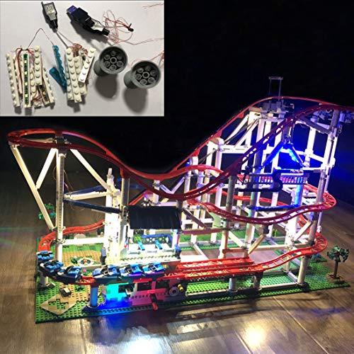 K9CK Juego de Luces para Montaña Rusa,Led Faro Kit de Iluminación Compatible con Lego Creator 10261 (NO Incluido en el Modelo)
