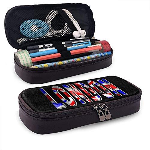 Bleistiftetui London Word mit Fahne Aufbewahrungstasche Geldbörse Organizer Kosmetiktasche Reisetaschen mit Reißverschluss Multifunktionale stationäre Tasche Etui für die Schule