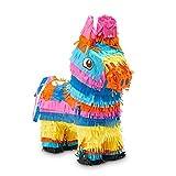 Donkey Pinata for Fiesta, Kids Birthday Party, Cinco De Mayo Decorations, 12.5 x 15 x 4.7 In