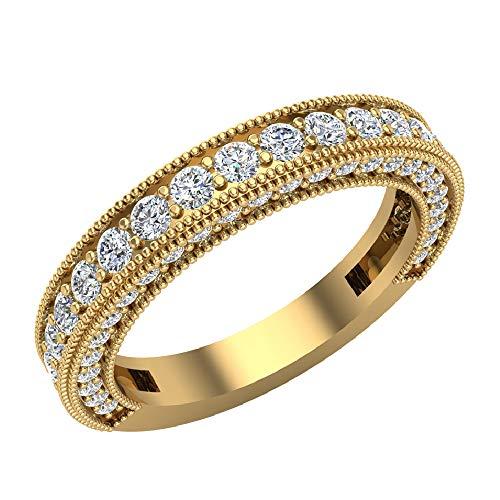 Glitz Design Mujer Niños Hombre Unisex oro 14 quilates (585) oro amarillo 14 quilates (585) round-brilliant-shape J-K Diamond