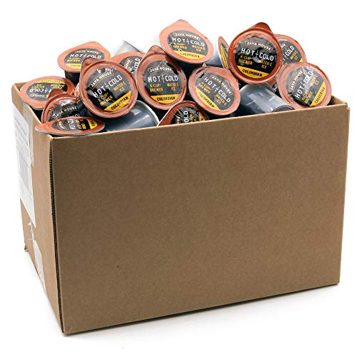 Java House Cold Brew Coffee, Colombian Medium Roast Coffee Concentrate Liquid Pods - 1.35 Fluid Oz (60 Count) Enjoy Hot or Iced