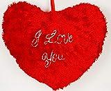 Deals India Valentine Jumbo Heart Cushion, Red (18x16-inch)