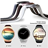 Kingwear Bluetooth Smart Watch KW18 1.3 inches IPS Round Touch Screen Smartwatch Phone with SIM Card Slot,Sleep Monitor,Heart Rate Monitor and Pedometer for iOS/Android Device (Gold)