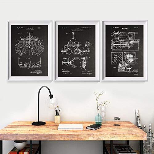 hpkcine Optometrie Patent Drucke Optometriker Geschenke Medizin Kunst Poster Optiker medizinische Werkzeuge Blaupausen Kunst Leinwand Malerei Wand Dekor Rahmenlos